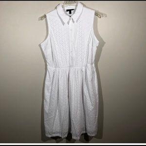 Lane Bryant Eyelet White Dress SZ 22
